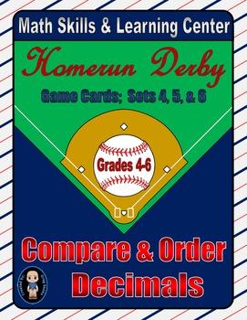 Baseball (Homerun Derby) Game Cards (Compare & Order Decim