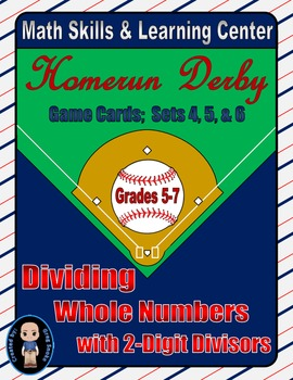 Baseball (Homerun Derby) Game Cards (Division with 2-Digit
