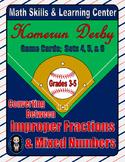 Baseball (Homerun Derby) Game Cards (Improper Fractions) Sets 4-5-6