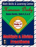 Baseball (Homerun Derby) Game Cards (Multiply & Divide Fractions) Sets 4-5-6