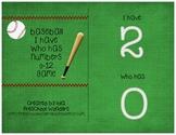Baseball I Have/Who Has Numbers Freebie