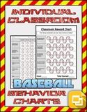 Baseball Individual & Classroom Behavior Chart (Editable on Google Slides)