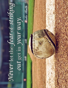 Baseball - Inspirational Quote by Babe Ruth