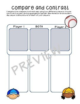Baseball Interactive Project, Graphic Organizers, and Crossword ~ BUNDLE