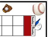 Baseball Calendar! Baseball Bulletin Board! Baseball Theme