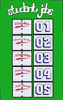 Baseball Jersey Job Chart