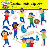 Baseball Kids Clip Art