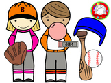 Baseball Kids Clipart (Personal & Commercial Use)