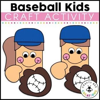 Baseball Kids Cut and Paste