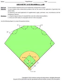 Baseball, Geometry, Lab, Problems