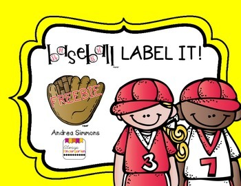Baseball Label It Freebie