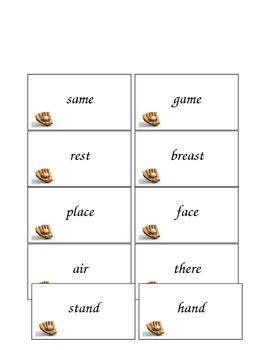 Baseball Language Arts Unit