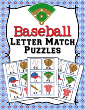 Baseball Letter Match Puzzles