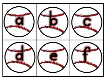Baseball Letters and Sounds