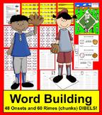 Baseball Literacy Centers - Onset Rime Baseball - DIBELS Practice