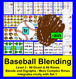 Baseball Literacy Centers - Play Catch! - Level 2 - More Complex Onsets/Rimes