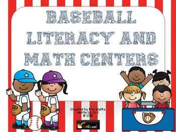 Baseball Literacy and Math Centers