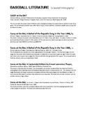 Baseball Literature:Baseball Bibliography CCSS 4.5