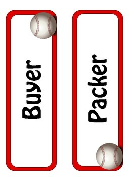 Baseball Lunch Count Display Pack-- Sports Classroom
