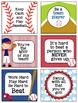 Baseball Lunchbox Notes, Jokes, and Bottle Wraps