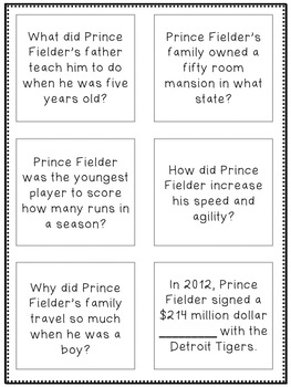 Baseball Mania!  High Interest Passages for Auditory & Reading Comprehension