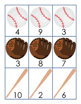 Baseball Match Mixed Addition and Subtraction Facts