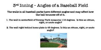 Baseball Math Stations