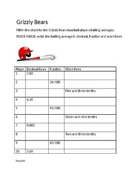 Editable Baseball Math