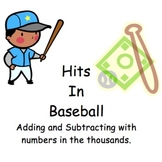 Baseball Math - Adding and Subtracting in the 1000s