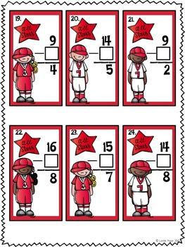 Baseball Math Centers Common Core Aligned