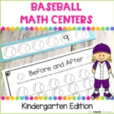 Baseball Math Centers for Kindergarten