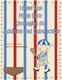 Baseball Math Fact Strategy Centers
