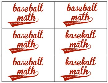 Baseball Math Facts