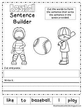 Baseball Math & Literacy Worksheets