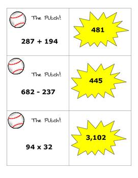 Baseball Math Operations Game