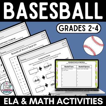 Baseball  Math Practice grades 3-5
