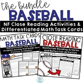 Baseball Problem Solving Task Cards and Close Reading