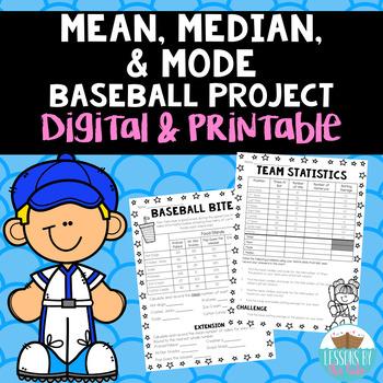 Batter's Up! Baseball Math Project (mean, median, mode)