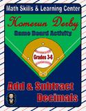 Baseball Math Skills & Learning Center (Add & Subtract Decimals)