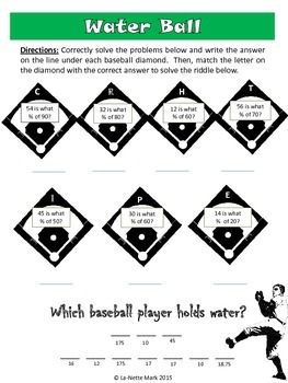 Baseball Math for Middle School
