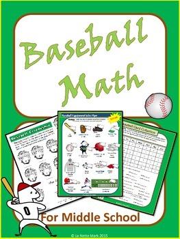 Baseball Math for Middle School