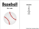 Baseball Mini-Book With Repetitive Text
