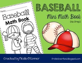 Baseball Mini Math Book (No Prep)