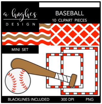 Baseball Mini Clipart Bundle {A Hughes Design}