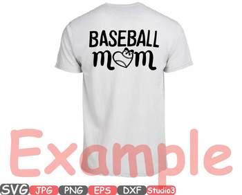 Baseball Mom love clipart shirt BALL heart Sports Mom svg sport birthday 52sv