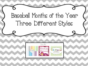 Baseball Months of the Year