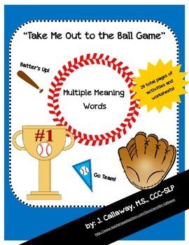 Baseball ~ Multiple Meaning Words!