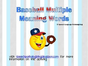 Baseball Multiple Meaning