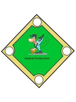 Baseball Multiplication Game Mat
