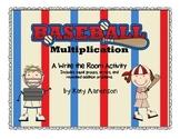 Baseball Multiplication Write the Room